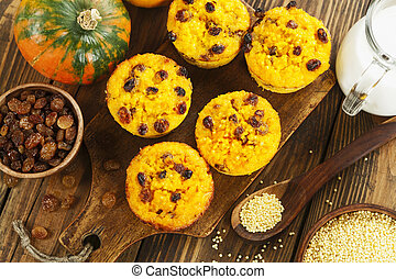 Pumpkin cake with  millet
