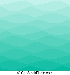 Gradual wavy blue turquoise background