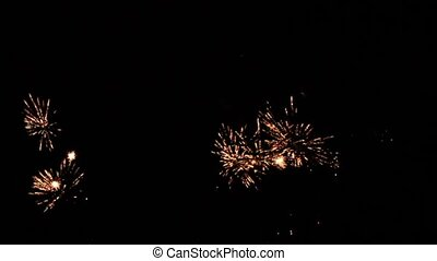 Fireworks explosions video with sound 1920 x 1080p HD video