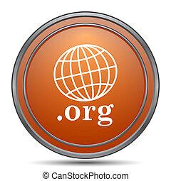.org icon. Orange internet button on white background.