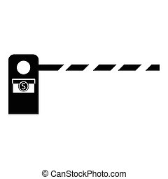 Barrier icon , simple style - Barrier icon. Simple...