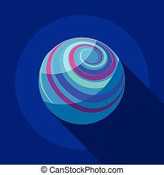 Far away planet icon, flat style - Far away planet icon....