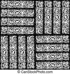 Seamless tile texture of the carpet - Seamless black and...