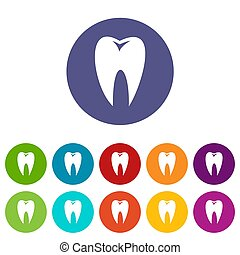 Tooth set icons