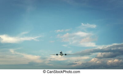 Airplane Landing Ottawa Canada - Real 3d render of airplane...