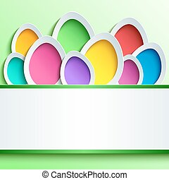 Easter card with colorful 3d egg