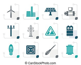Stylized Electricity and power icons