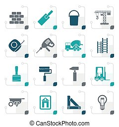 Stylized Construction and Building icons