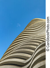 Modern Building Exterior Low Angle View, Guayaquil - Low...