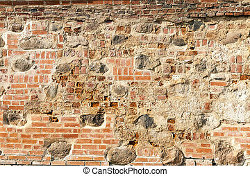 wall of an old building