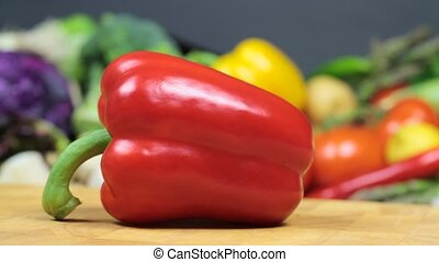 Fresh red pepper 1920 x 1080p HD video
