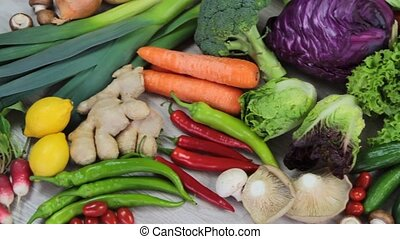 Fresh colorful vegetables 1920 x 1080p HD video