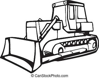 Bulldozer Illustration...