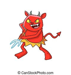 devil character with trident