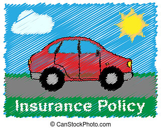 Insurance Policy Meaning Vehicle Policies 3d Illustration -...