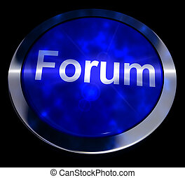 Forum Button For Social Media Community 3d Rendering