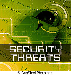 Security Threats Means Unauthorized Menace 3d Rendering