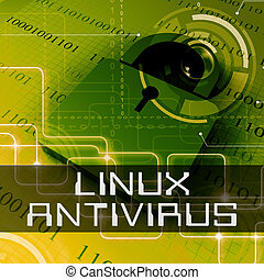 Linux Antivirus Shows Open Source Protection 3d Rendering -...