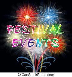 Festival Events Fireworks Shows Festive Party Ceremony