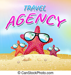 Travel Agent Represents Travels Agency 3d Illustration -...