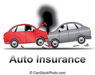 Auto Insurance Shows Car Policy 3d Illustration - Auto...