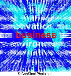 Business Word Representing Trade Partnership 3d Rendering