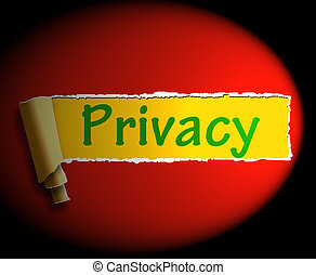 Privacy Word Shows Protection Of Information 3d Rendering