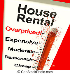 House Rental Overpriced Monitor Showing Expensive Housing 3d Illustration