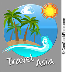 Travel Asia Beach Indicates Tours Expedition And Trips -...