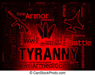 Tyranny Words Indicating Reign Of Terror And Dictatorships