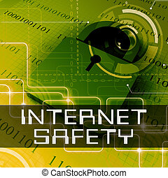 Internet Safety Shows Web Protection 3d Rendering