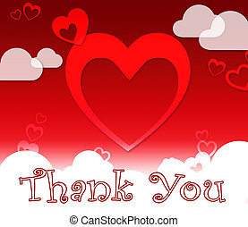 Thank You Hearts Shows Gratitude And Love