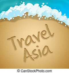 Travel Asia Beach Indicating Tours Expedition 3d...