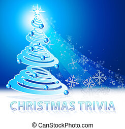 Christmas Trivia Shows Xmas Facts 3d Illustration -...