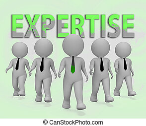 Expertise Businessmen Representing Master Skills 3d...