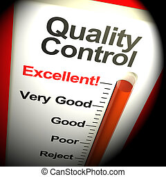 Quality Control Excellent Monitor Showing Satisfaction 3d Rendering
