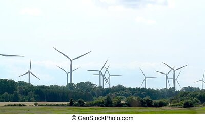 Windpower turbines ( 1080p HD video )