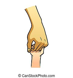 hand helping each other symbol