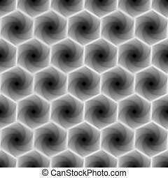 Seamless pattern with grey hexagonal forms - Abstract...