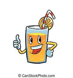 orange juice character
