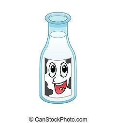 cow milk bottle character