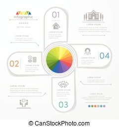 Infographics design template with icons, process diagram,...