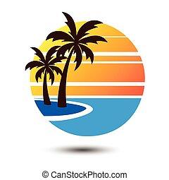 Summer logo - Summer holidays design Labels, Badges,emblem,...
