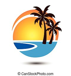 Summer logo 2 - Summer holidays design Labels,...