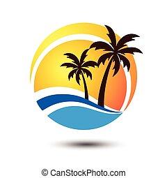 Summer logo - Summer holidays design Labels, Badges,emblem...