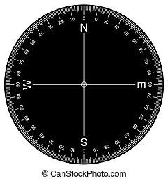 Protractor - Actual Size Graduation vector - image of...