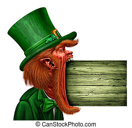 Leprechaun Saint Patrick Sign
