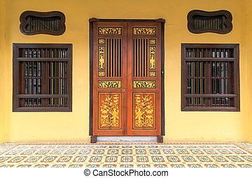 Peranakan Style Home Exterior in Penang - Peranakan typical...