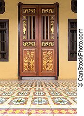 Ornate Peranakan Style Doors Entryway - Ornate Doors of...