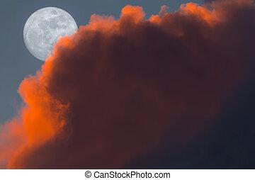 Full Snow Moon Rising During Sunset - Full Snow Moon Rise...